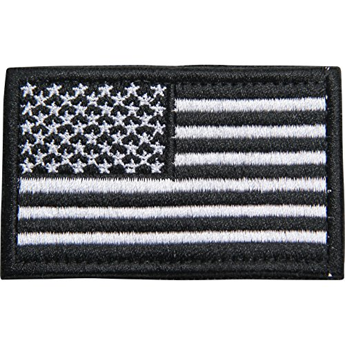 Survival Knight American Flag Patch Black and White Velcro T