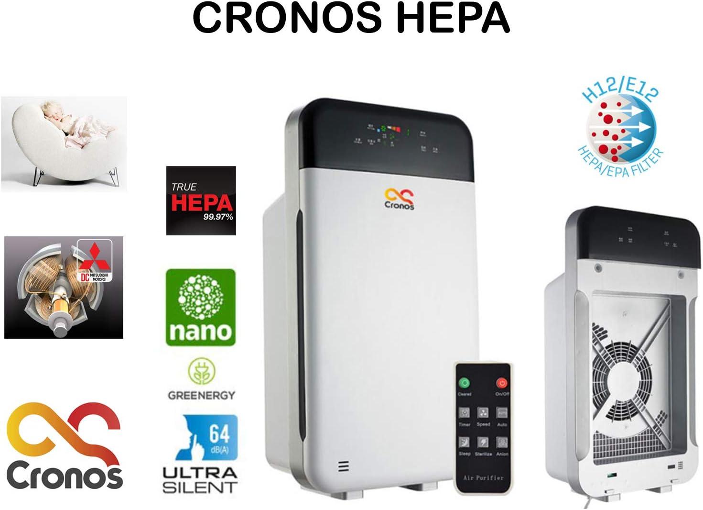 CRONOS HEPA purificador de Aire con Filtro HEPA, Filtro de carbón ...