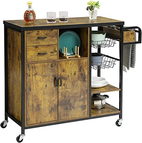 Hasuit Storage Kitchen Island Cart on Wheels