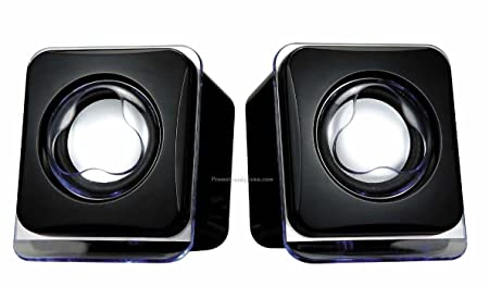 USB 2.0 Mini Speakers Black 201 Speakers