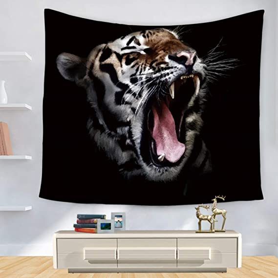 YIYA Tapiz Forest King Tiger Print Home Decoración de Pared Manta ...