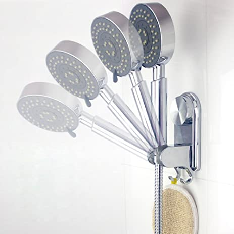 Labkiss Adjustable Shower Head Holder With 2 Hooks, Heavy Duty, Super Power  Vacuum Suction