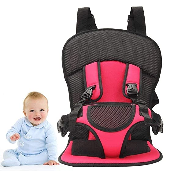 DoForte Panzl Baby's Adjustable Car Cushion Seat with Safety Belt for Small Kids & Babies Multi-Function (Multi Color)