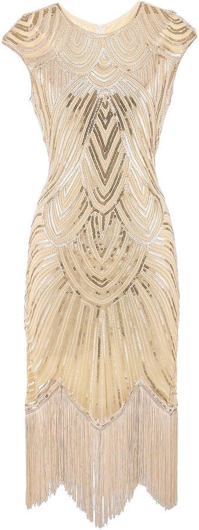 Lazzboy Damen 19er Diamant Pailletten verschönert mit Fransen