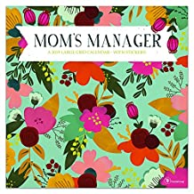 Mom's Manager 2019 Calendar: A Large Grid With Stickers