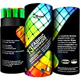 Fabric Markers Permanent Marker Pens for Fabrics T Shirts Clothes - Big Set Dual 26 Tip of 13 Ink Colors Safe Crafts For All Art Kids Textile Paint -