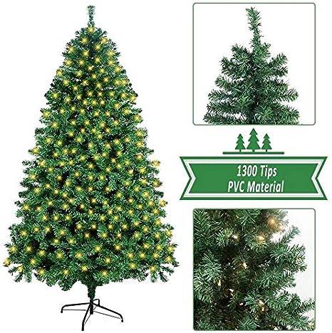TTIK 220Cm Mini Árbol De Navidad Artificial con Luces Decoración Navideña Árbol De Navidad De Mesa Arbol Artificial De Oficina Hogar Decoración De Navidad: Amazon.es: Deportes y aire libre