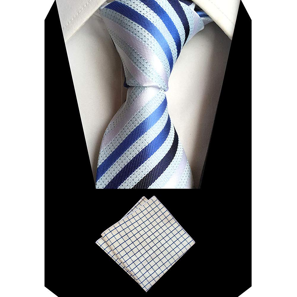 amropi Corbatas de Hombre Extra largo Normal Raya Pañuelo de ...