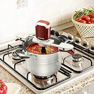 Gourmia GST210B Stiriffic Adjustable Pot & Pan Hands Free Automatic Stirrer-