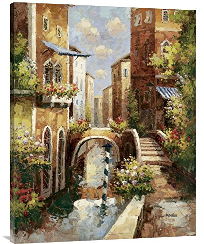 Global Gallery Budget Peter Bell Venice Canal Ii Gallery Wrap Giclee on Canvas Print Wall Art