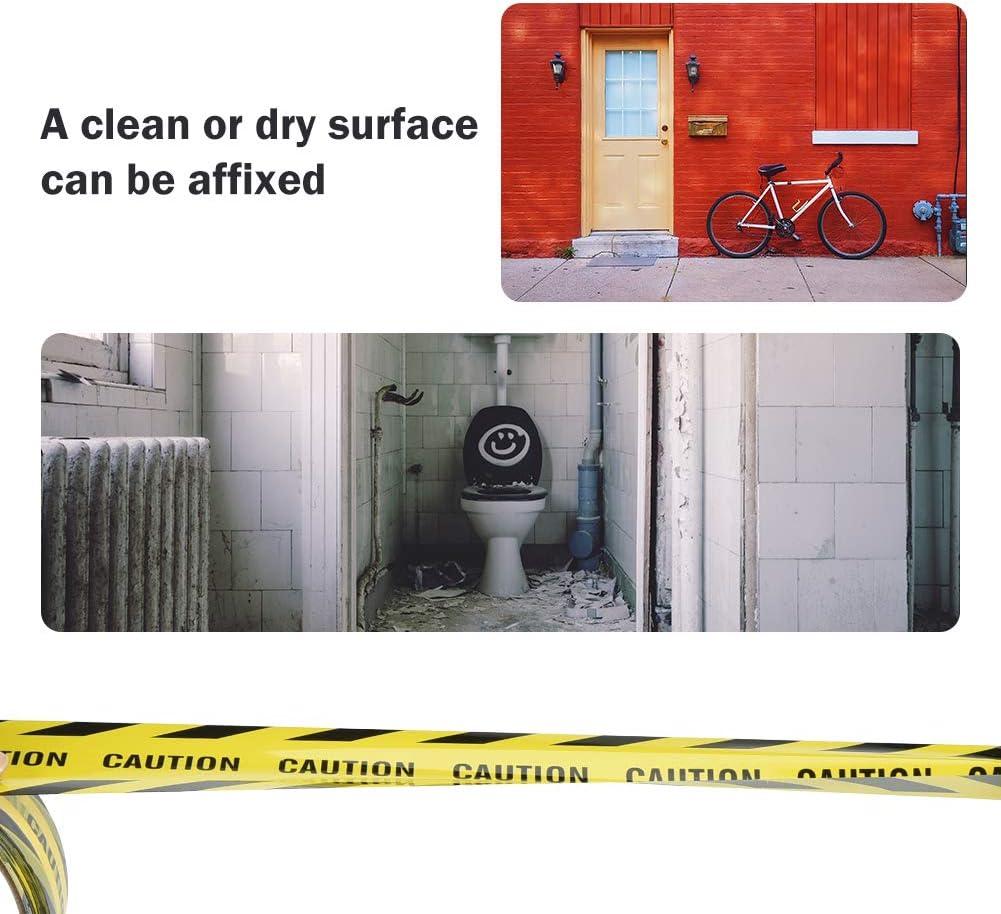 Irich Cinta adhesiva de advertencia de barricada con sarga en negrita 82.02 ft x 1,89 pulgadas texto y legibilidad para el lugar de trabajo y /áreas de peligro