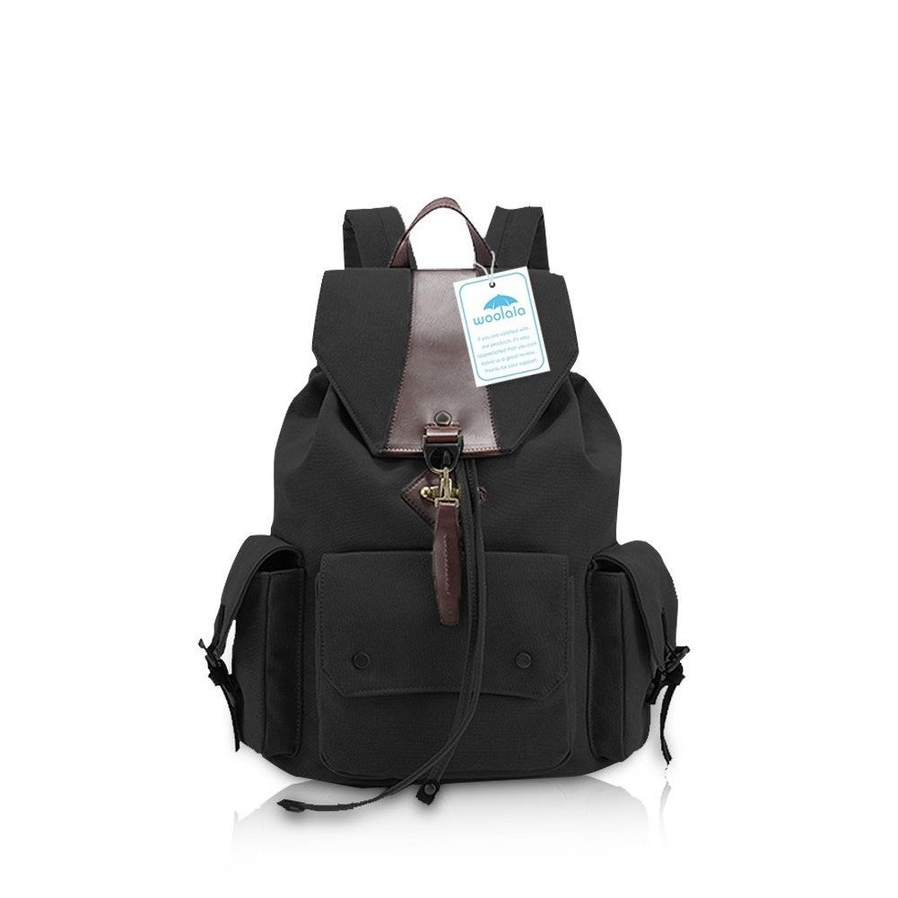 Yoome Fashion Laptop Backpack Canvas College Backpack School Bag Women  Camping Hiking Travling Backpack Black  Amazon.co.uk  Shoes   Bags 2c850f8602394