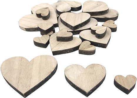 400 Stk Streudeko Herz Holz Tischdeko Natur Hochzeit Deko Dekoherzen Streuteile