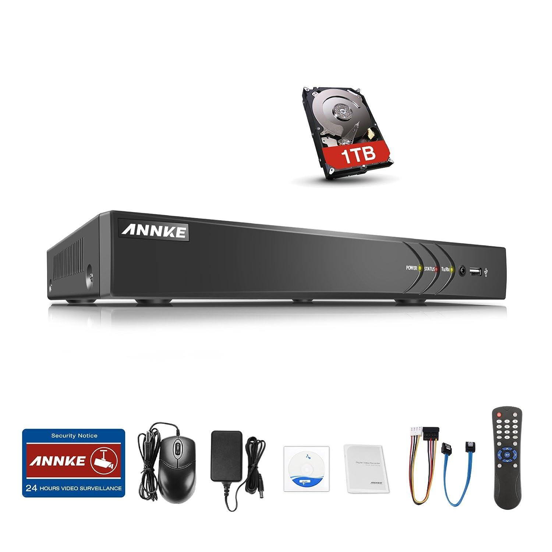 ANNKE(アンカ)300万画素防犯レコーダー 10ch防犯録画機 HD TVI/AHD/CVI/アナログカメラ対応 8ch+2ch 1080P IPカメラ接続可 H.264+画像圧縮方式 モーション検知 遠隔監視 画像付きメール警報(HDD 1TB) B075N9QQ4V