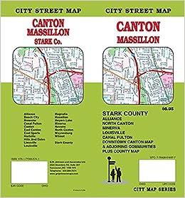 Canton Oh Massillon Stark County Ohio Street Map Gm Johnson