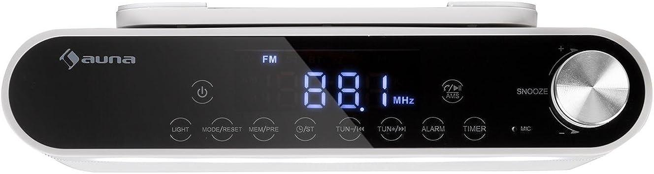 auna KR-130 Radio de Cocina Bluetooth - Instalación bajo Mueble