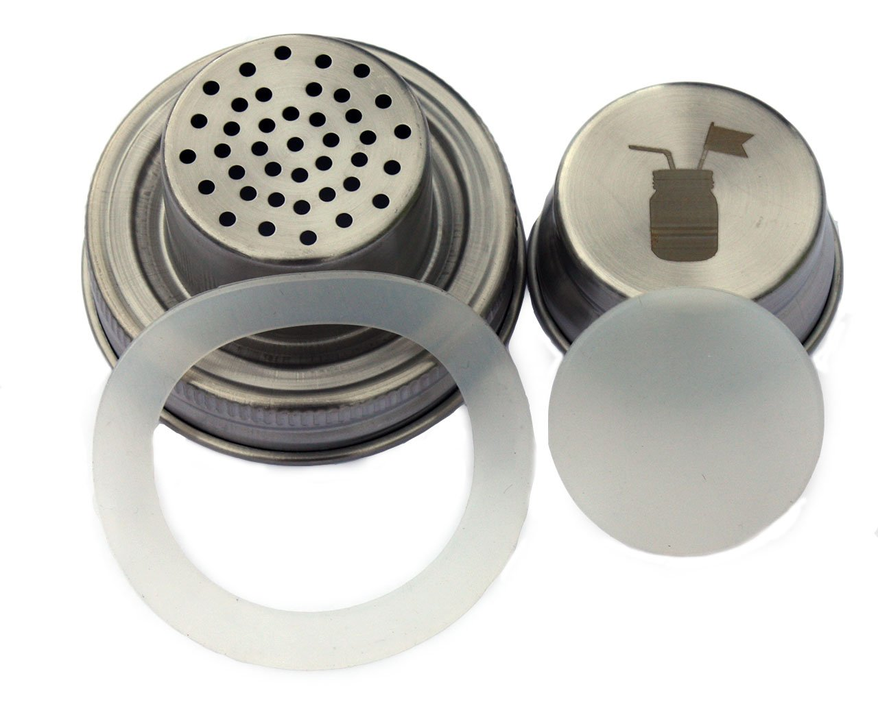 Ball Cocktail Shaker Lid with Silicone Seals for Regular Mouth Mason Canning Jars