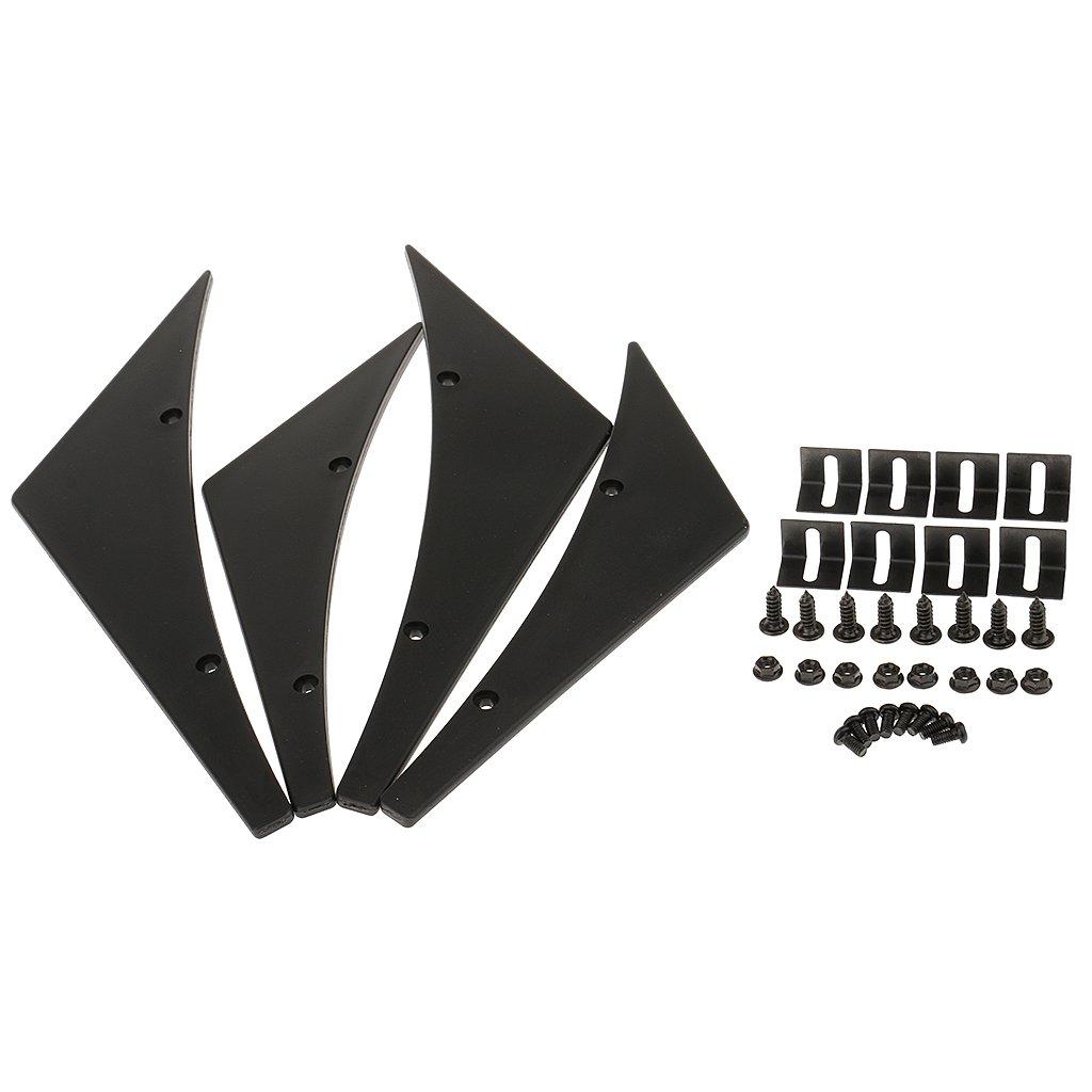 MagiDeal Universal Aleró n kit de Coches Reducir Resistencia de Aire Piezas de Decoració n Modificaciones para Vehí culo de Carreras - Negro