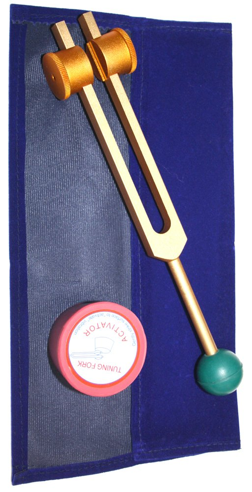 Radical Golden Om Weighted with Rubber Balll for Grip Tuning Fork for Meditation ,Peace Relaxation & Energy - OHM Enchantment by Radical