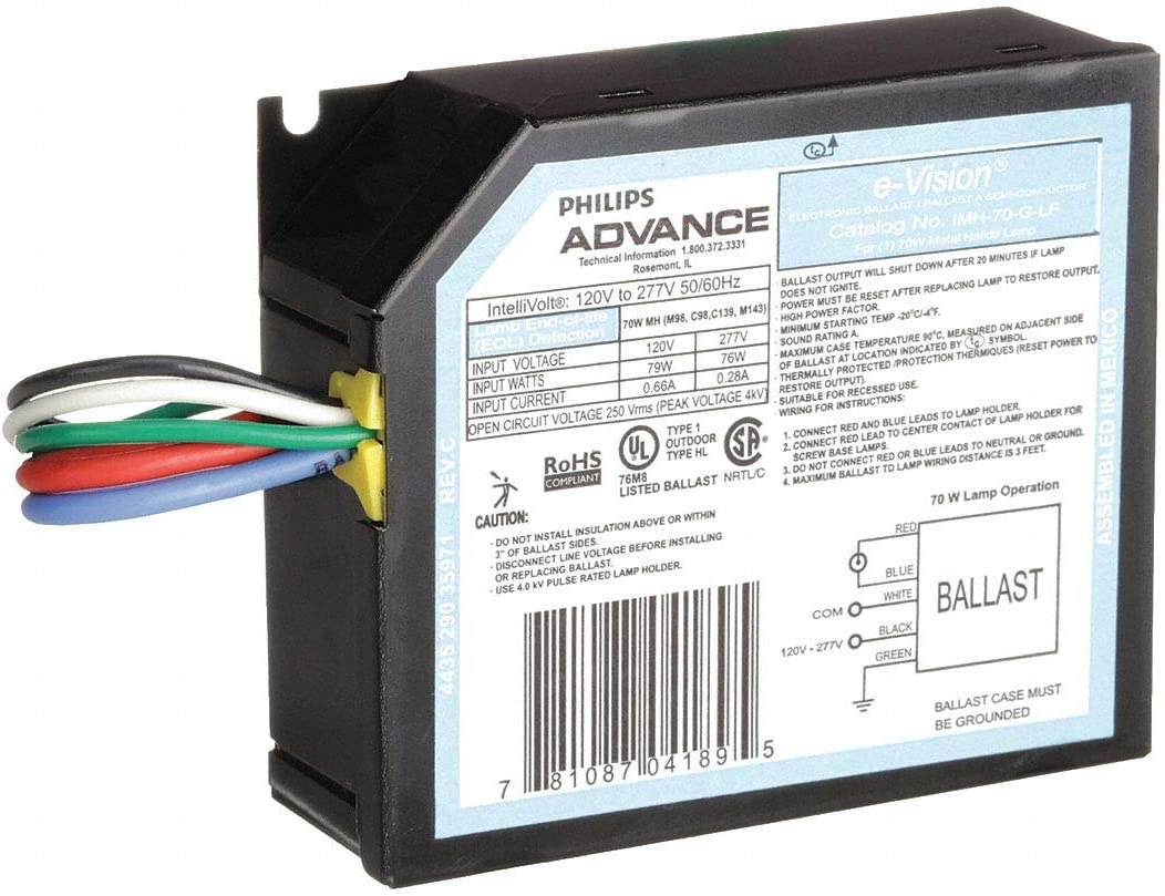 IMH-70-G-BLS Philips Advance MH HID 70W Electronic Ballast 120-277V