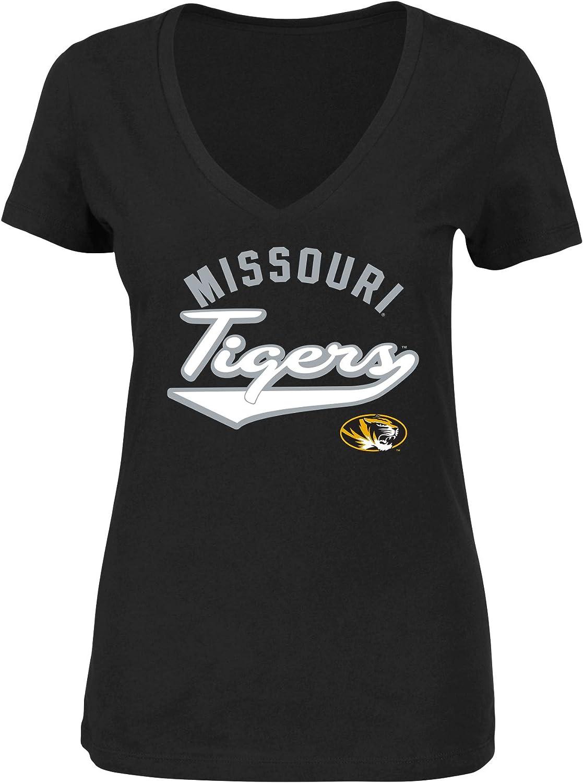 NCAA Womens Plus Size Vee-Neck Short Sleeve Cotton Tee Shirt