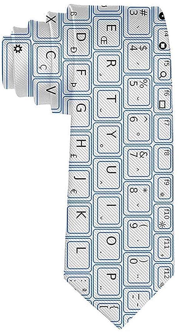Cravatta moda uomo Tastiera Computer Cravatta Taglia unica Cravatta