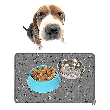 Pawaca Alfombrilla de silicona antideslizante mascotas, perros, gatos, mascotas, gatos, alfombrillas