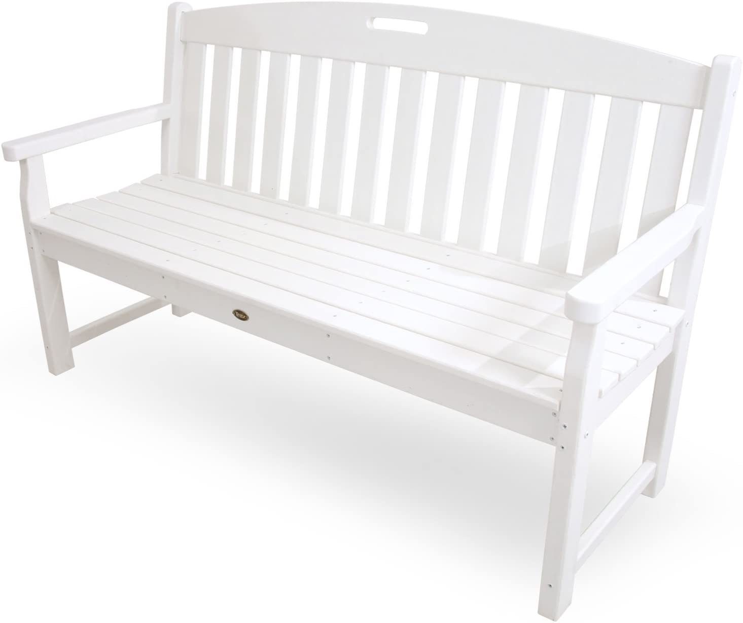 Trex Outdoor Furniture TXB60CW 60-Inch Yacht Club Bench, Classic White