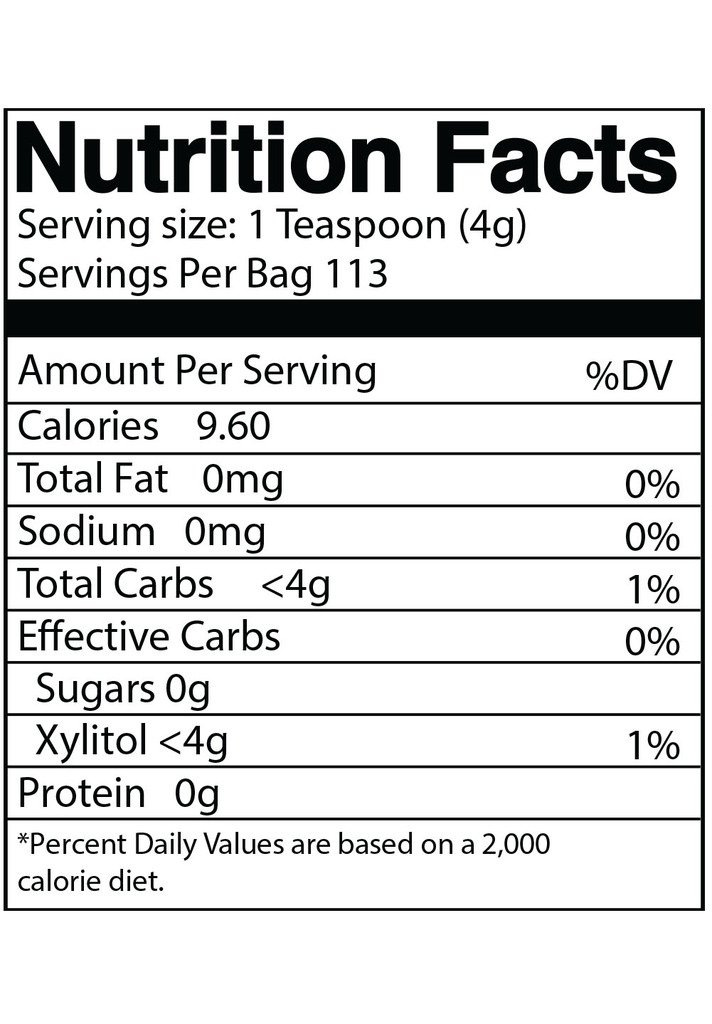 DureLife Birch XYLITOL Sugar Substitute 1 LB (16 OZ) Made From 100 % Pure Birch Xylitol In The USA , NON GMO - Gluten Free - Kosher , Packaged In A Resealable zipper lock Stand Up Pouch Bag by DureLife (Image #3)