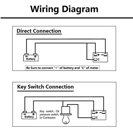 amazon com searon 36v volt led battery status charge indicator rh amazon com ezgo battery meter wiring diagram 48 volt battery meter wiring diagram