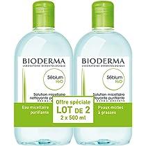 Bioderma Sebium Purificante Gel Espuma Combinación o piel grasa 2X 500ml (2x500ml): Amazon.es: Belleza