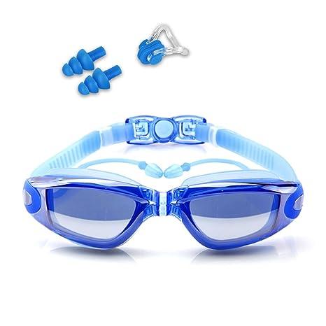 a1703f2c4781 Guzack Occhiali da Nuoto, Occhialini Nuoto a specchio anti appannamento,  anti UV, GRATIS