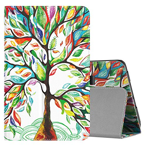 TiMOVO Cover Compatible for Samsung Tab A 10.1 Case, Slim Folding Stand Smart Case with Auto Wake/Sleep Fit Samsung Galaxy Tab A Case 10.1 2016 Release(SM-T580/T585, No Pen Version), Lucky Tree