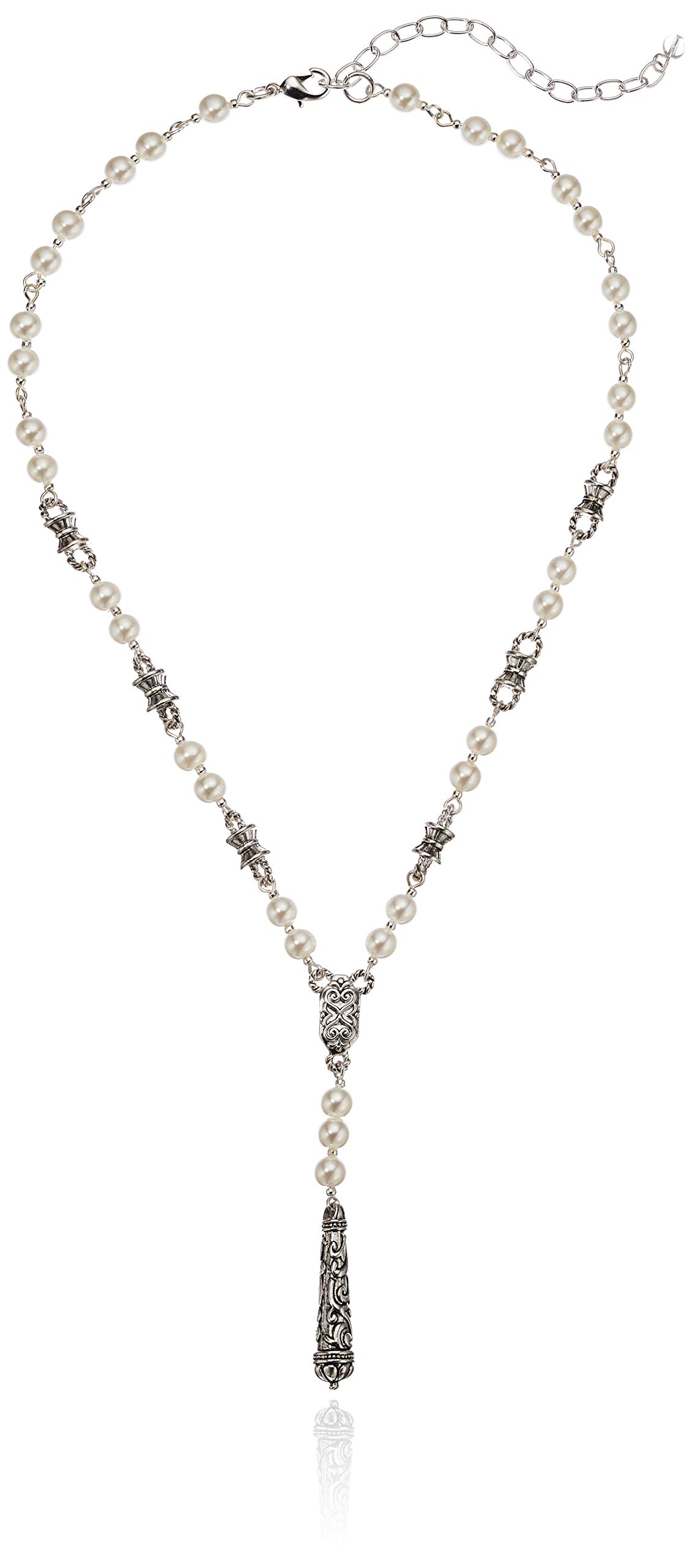 Napier Women's Pearl Y Shaped Necklace