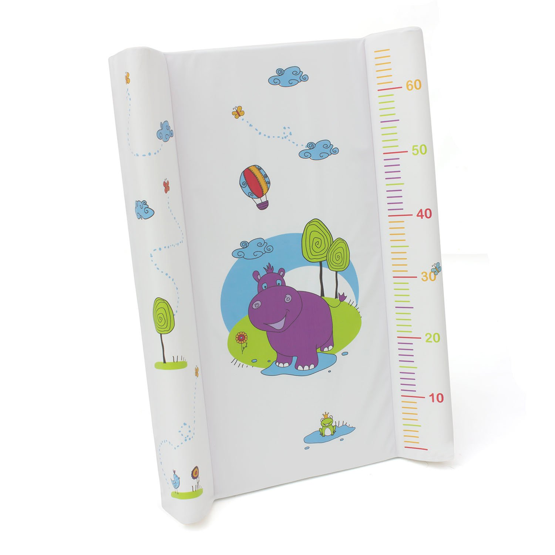 Wickelplatte Wickelbrett Wickelauflage Unterlage f/ür Bett Baby OKT Kids Hippo Motiv weiss