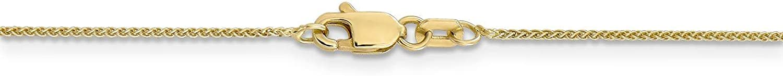 14k Yellow Gold 0.8mm Spiga Pendant Chain Necklace Bracelet Anklet 6-30