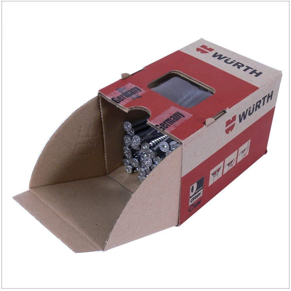 Wü th Paquete de 500 piezas de tornillos de aglomerado de acero galvanizado Assy 3.0 4,0 x 50 mm / Wü th Rosca parcial, cabeza senkfrä . AW 20 0 x 50 mm / Wüth Rosca parcial cabeza senkfrä.AW 20 Würth