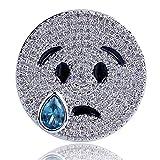 Jewelrysays Hip Hop Unisex Jewelry Personality Full Zircon Silver Tear Ring Accessorise 1pcs(7)