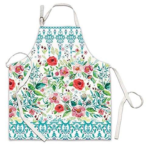 (Michel Design Works Cotton Chef Apron, Wild Berry Blossom)