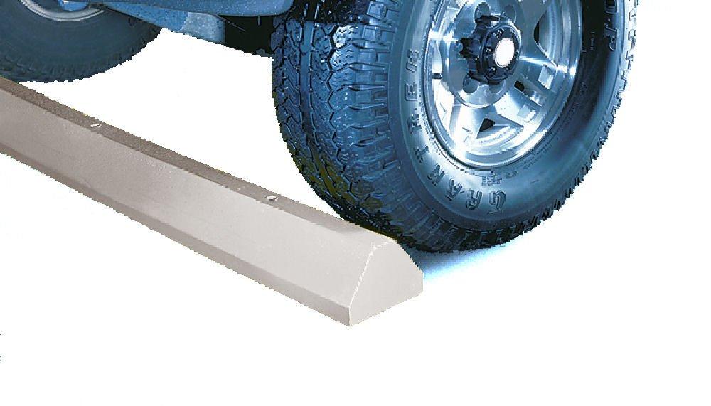 Lotblocks CS6S-G Plastic Standard Car Parking Stop without Hardware, Grey, 72'' Length, 6'' Width, 4'' Height