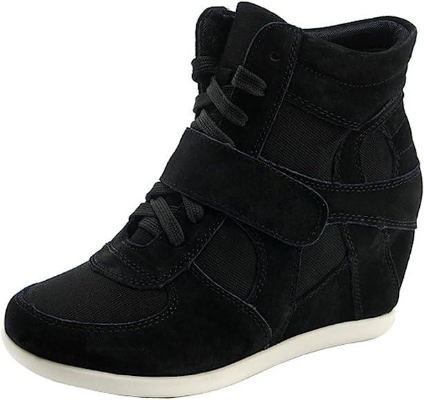 Women's Formal Wedge Hidden Heel Black