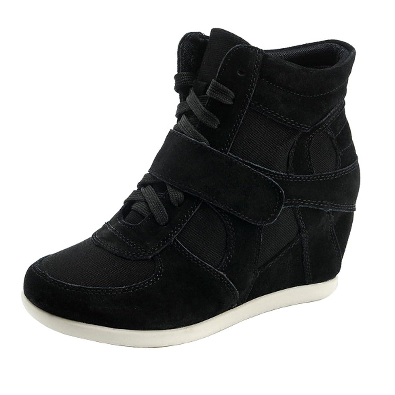 Generic Women's Formal Wedge Hidden Heel Suede Leather Fashion Sneaker