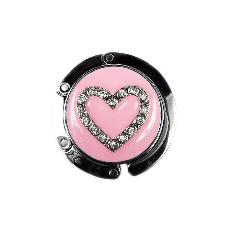 TdZ Handbag Hook Travel Size Heart Charm Pink