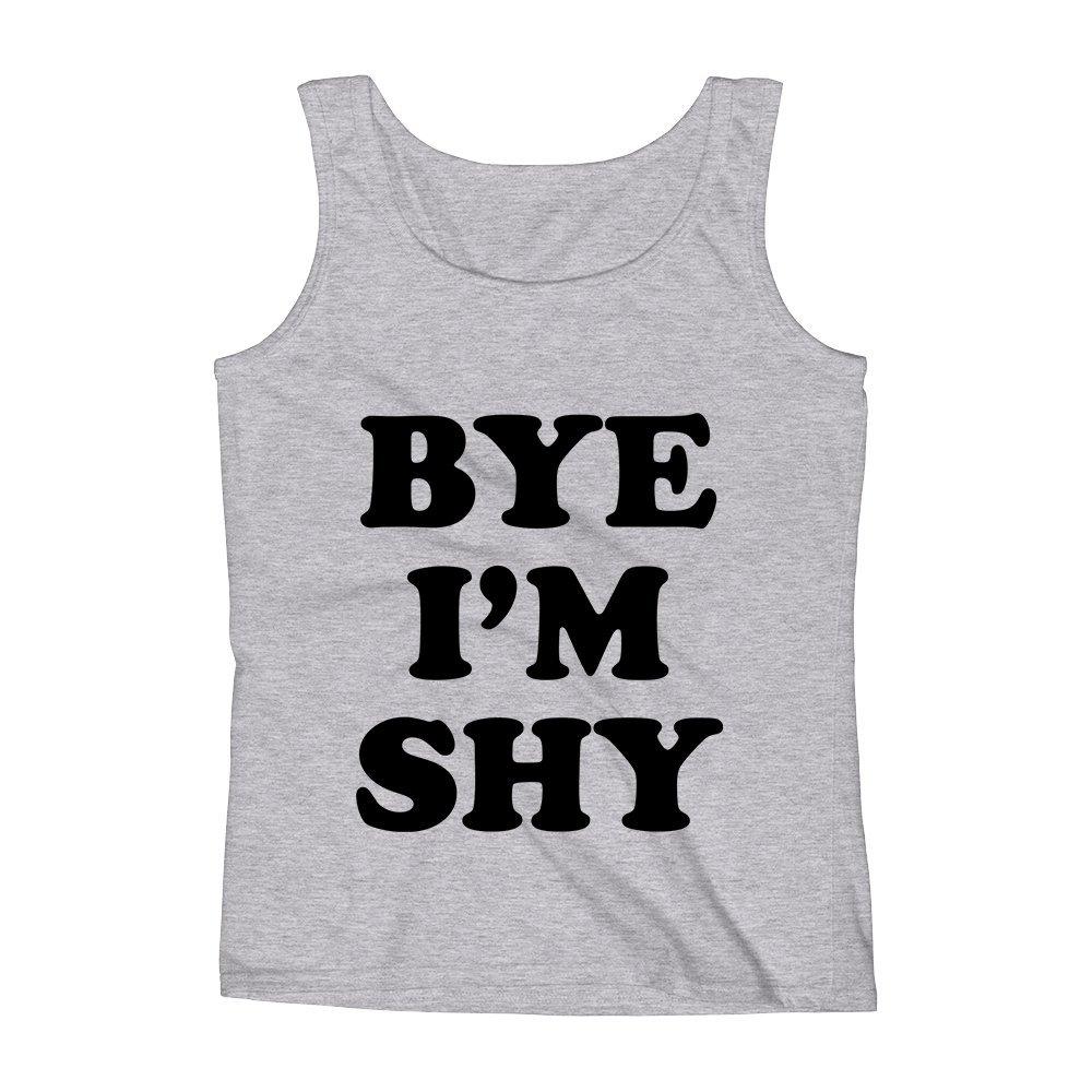 Mad Over Shirts Bye Im Shy Introvert Humor Unisex Premium Tank Top