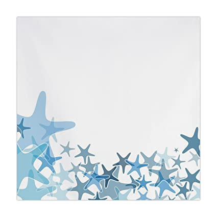 Amazon.com: Polyester Square Tablecloth,Starfish Decor,Hand ...