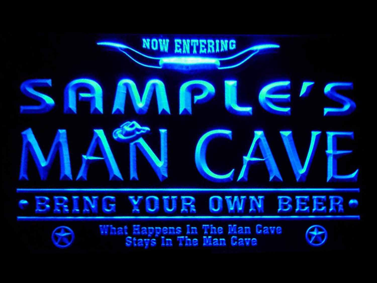 ADVPRO pb-tm-b Man Cave Name Personalized Custom Game Room Cowboys Bar Beer LED Neon Sign