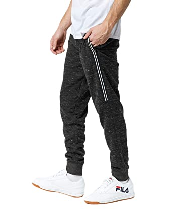 2d871544f Brooklyn Cloth Snow Fleece Black Jogger Pants at Amazon Men's Clothing  store: