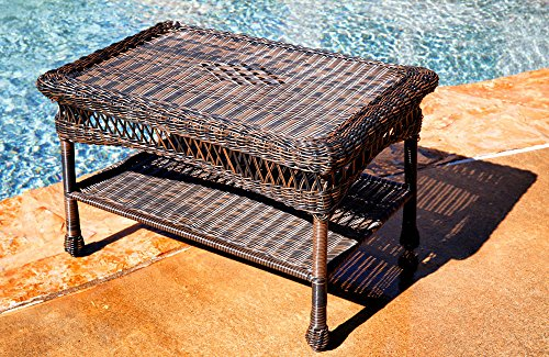 Tortuga Outdoor Portside Coffee Table – Dark Roast For Sale