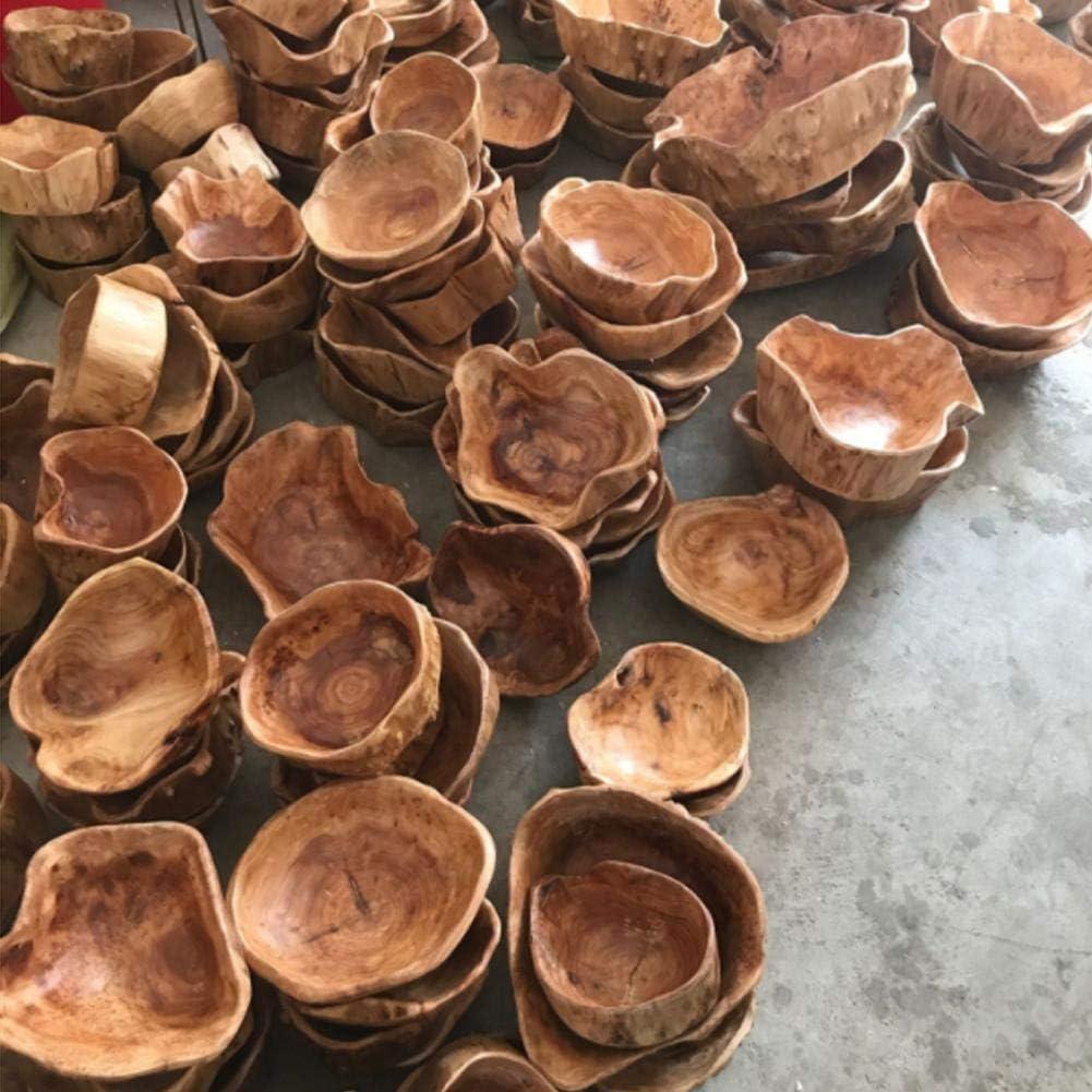 Sue-Supply Fruit Bowl Innovative Living Room Legno in grani Multi-Grain Candy Dish Grande Frutta secca Plate Grid Root in Legno Carving Tray Legno Fruit Bowl Ciotola di miscelazione