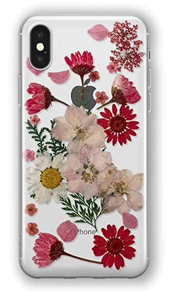 official photos 1489b cc80e Amazon.com: Recover Real Flower iPhone X Case/iPhone Xs Case ...